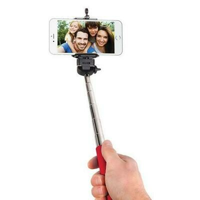 Smart Gear 42 Extendable Monopod Selfie Stick, Red