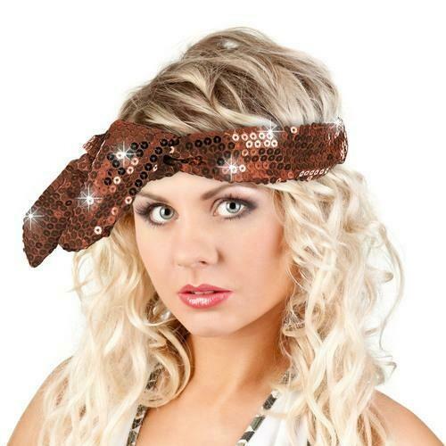 Calypso Studios Glitz Bendi Sequin Wire Headband, Brown