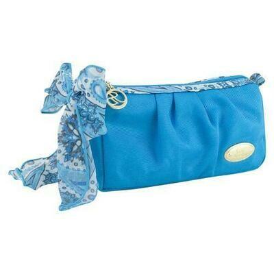 Jacki Design Summer Bliss Compact Cosmetic Bag, Blue