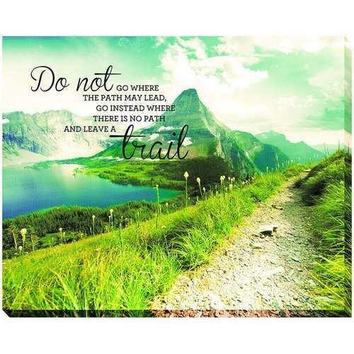 Advantus Leave A Trail 22 x 28 Inches Canvas Motivational Print MultiColored