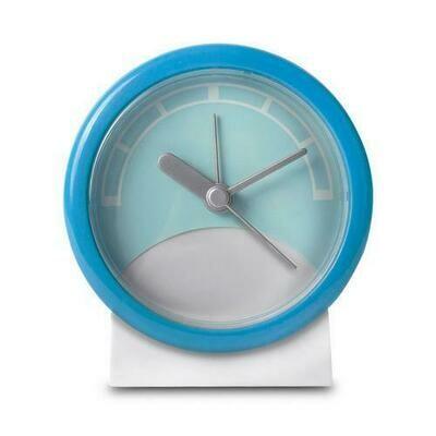 Stand Up Analog Alarm Clock (Blue/White)