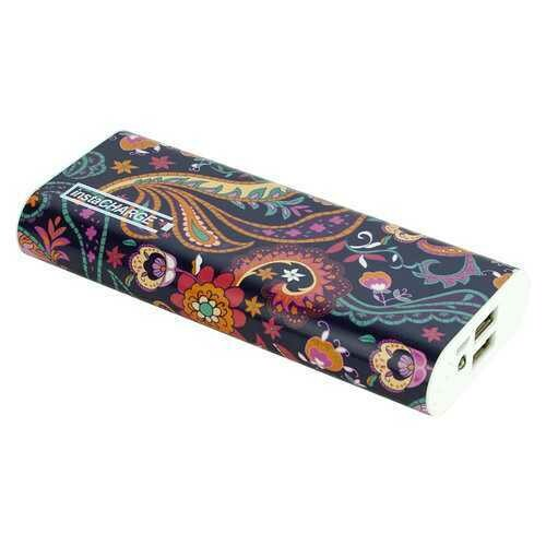 instaCHARGE 12000mAh Dual USB Power Bank Portable Battery Charger Paisley