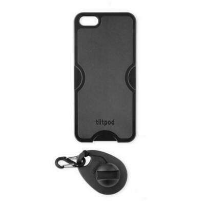 Tiltpod 4-in-1 Tripod, Phone Case, Keychain, and Stand for iPhone 5 (Black)