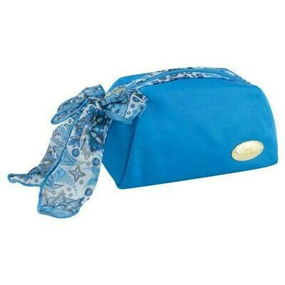 Jacki Design Summer Bliss Makeup Cosmetic Pouch Bag Blue