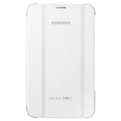 Samsung Galaxy Tab3 Magnetic Book Cover Case (White)