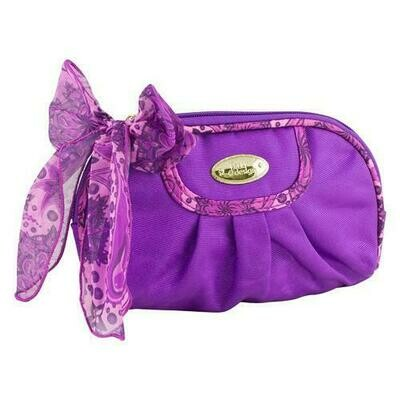 Jacki Design Summer Bliss Round Cosmetic Bag, Purple