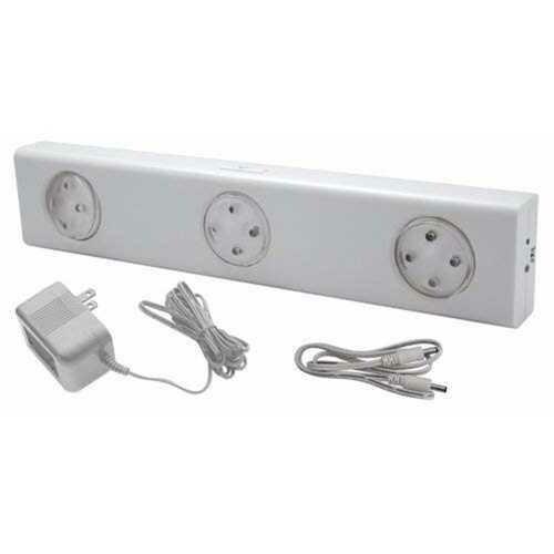Rite Lite LPL700W-AC LED 3-Independent-Light-Head Wireless Under-Cabinet Light