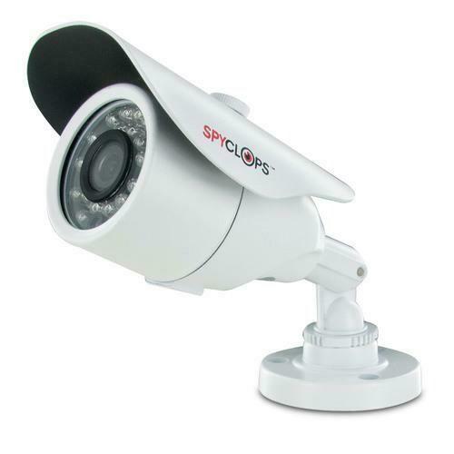 Spyclops SPY-MINIBULLETW Mini-Bullet 24 IR Nightvision LEDs CCTV Camera White