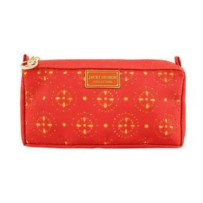 Jacki Design Cosmopolitan Compact Cosmetic Bag, Orange