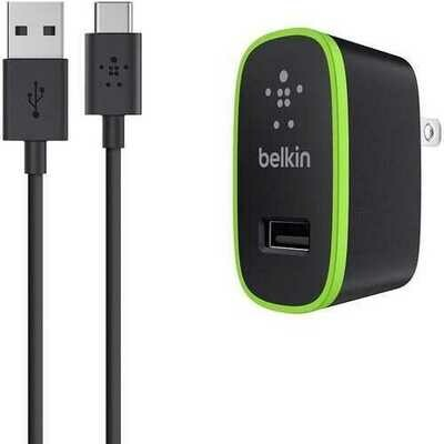 Belkin USB-C to USB-A Cable with Universal Home Charger 10W 2.10A,-