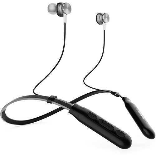 NAXA Electronics NE-971 Bluetooth Neckband Earbuds Silver