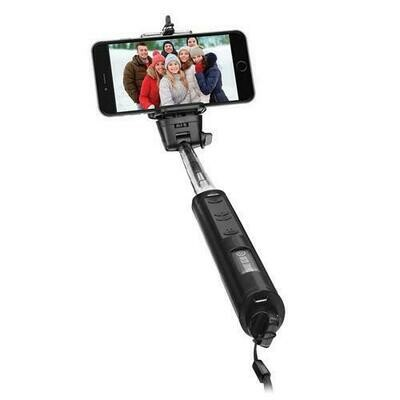 Smart Gear 40 Bluetooth Telescoping Extendable Monopod Selfie Stick, Black