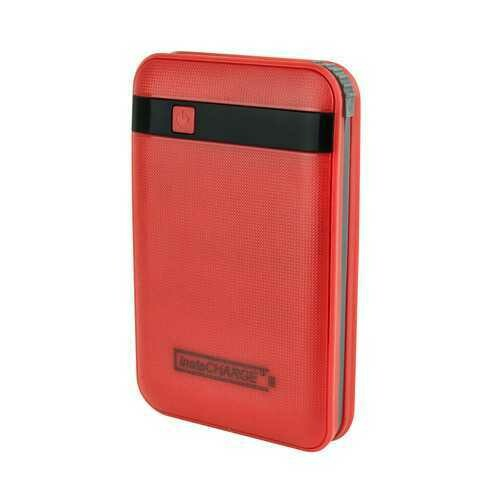 InstaCHARGE 11000mAh Power Bank Portable Device And Phone Charger - Red