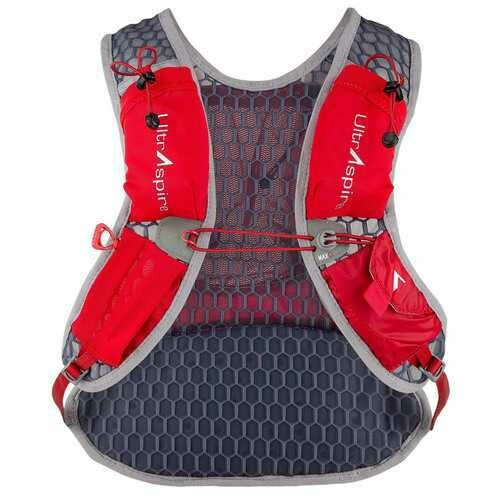 Ultraspire Revolt Hydration Race Vest UltraFlask Water Bottle Included Red Long