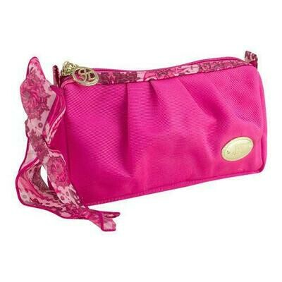Jacki Design Summer Bliss Compact Cosmetic Bag, Hot Pink