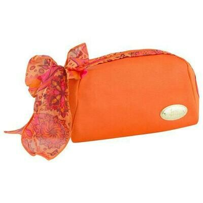 Jacki Design Summer Bliss Makeup Cosmetic Pouch Bag Orange