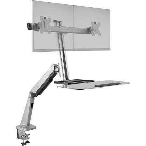 Ergotech FDM-LIFT-2 Freedom Lift Dual Monitor 26.2 Keyboard Tray Desk Clamp