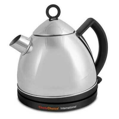 """Chef""""sChoice 685 1.3L 1500W Stainless Steel Deluxe Cordless Electric Tea Kettle"""
