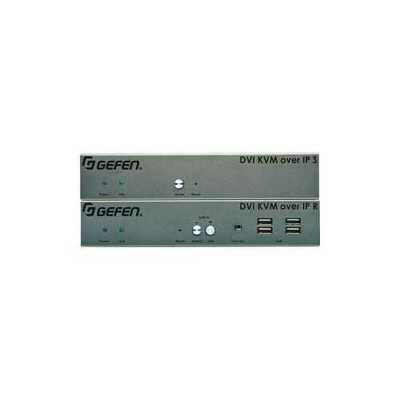 Gefen DVI KVM over IP w/ Local DVI Output (EXT-DVIKVM-LAN-LTX) Sender Unit