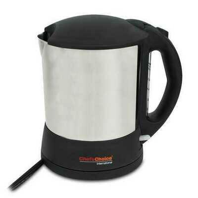"""Chef""""sChoice 6750001 1500 Watt 1.6 Liter Cordless Electric Hot Pot Silver"""