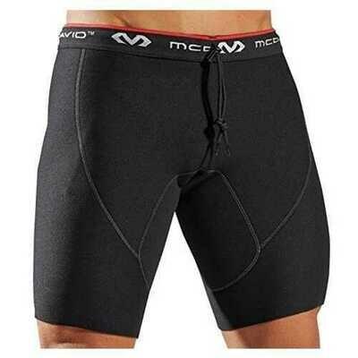 McDavid Compression Shorts for Men and Women, Black Neoprene - Small