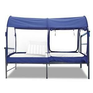 TWIN BLUE MESH MOSQUITO NET BED