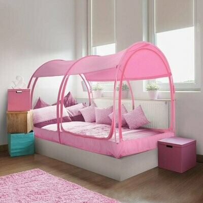 FULL PINK MESH MOSQUITO NET BED