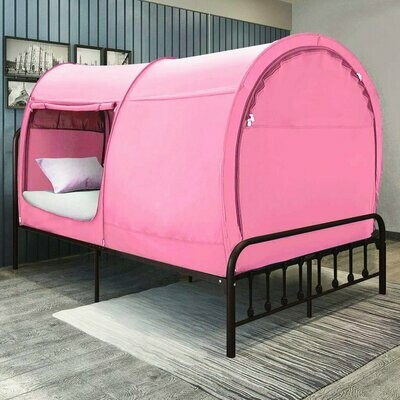 FULL PINK BLUE BED TENT
