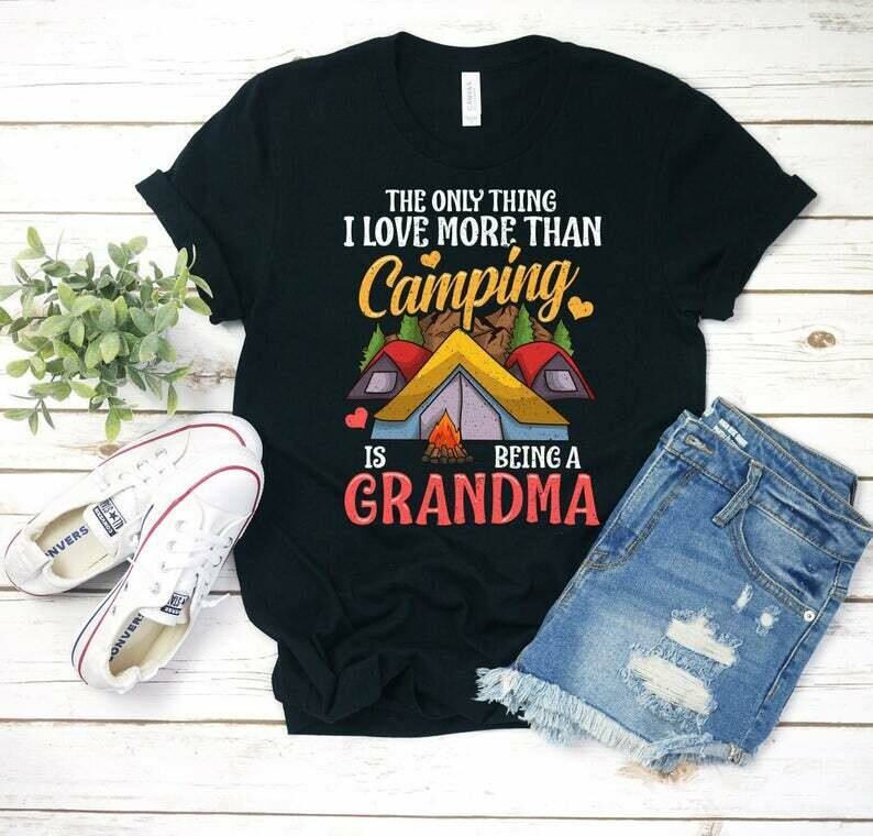 Funny Camping Shirt for Grandma, Hiking Gift For Grandmothers, Mountain Hiking, Mountaineer, Nature Shirt, Camping Gift, Gift for Hiker