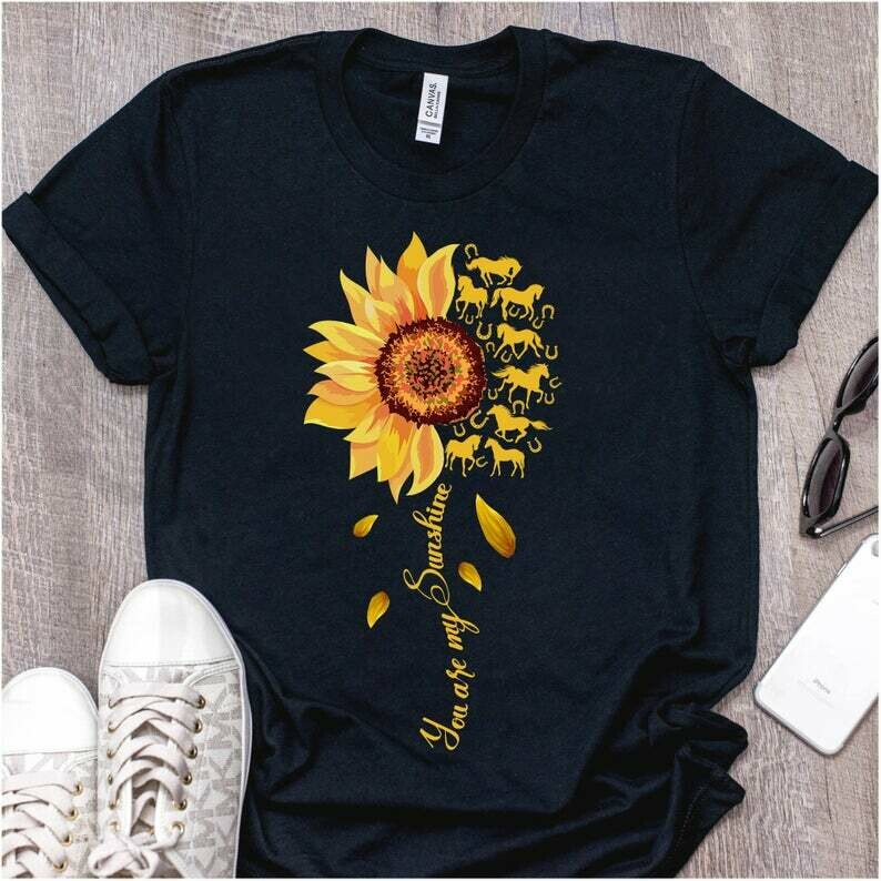 Hippie Life TeeYou Are My Sunshine Sunflower Horse T-Shirt Hippie Soul Shirt For Peace Lover, Man, Girl On International Day of Peace