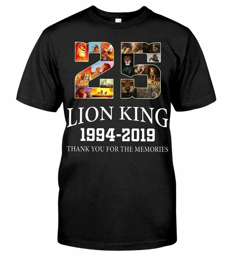 25 Years Of Lion King Shirt  Perfect Gift Idea For Fans