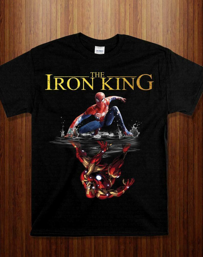 The Iron King Funny Marvel Avengers Spider Man shirt