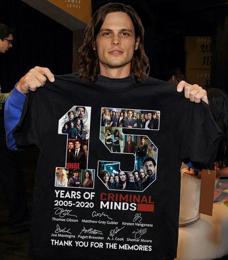 Criminal Minds shirt 15 Year Of Criminal Minds thank you T Shirt Full Size