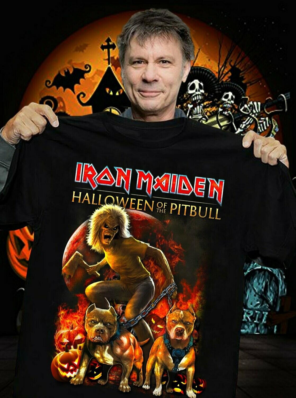 Iron Maiden vintage handpainted denim jacket unisex shirt