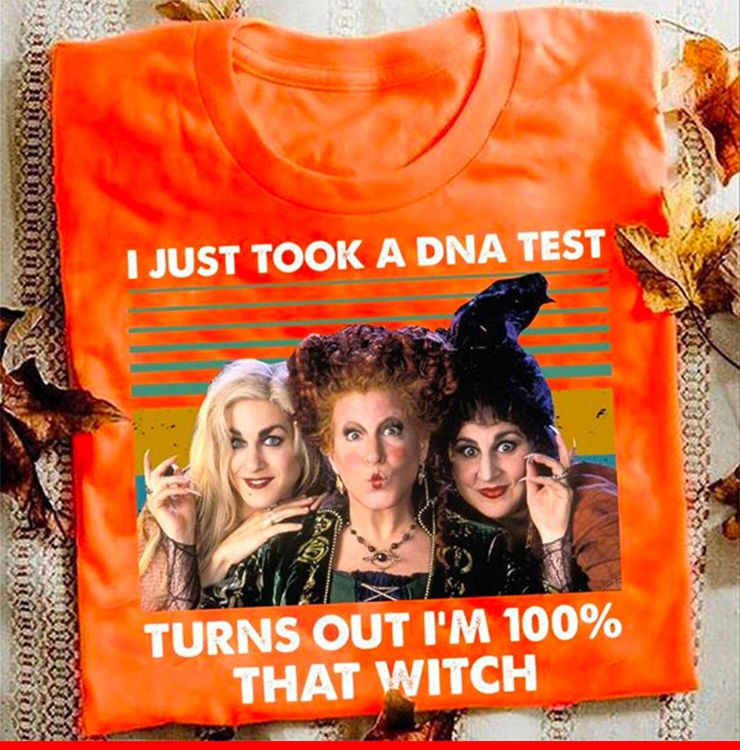 I just took a DNA test turns out I'm 100% that witch Hocus Pocus Sanderson Sisters Clipart PNG Download Sublimation Design