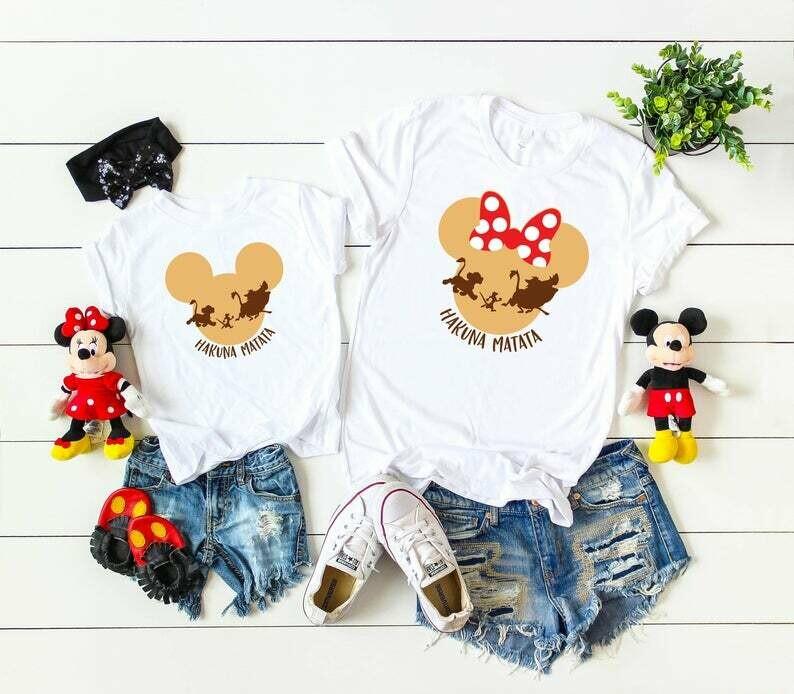 Disney Animal Kingdom Family Trip Shirts,Disney Minnie/Mickey Shirts, Disney Shirts, Hakuna Matata Shirt, Disney matching Shirts D1