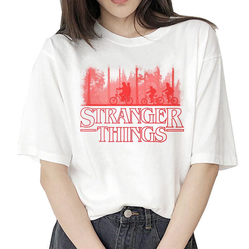 stranger things 3 t shirt Eleven 2019 women new tshirt hip hop 90s gothic female clothing femme streetwear kawaii Upside Down
