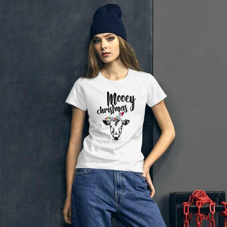 Mooey Christmas Shirt - Funny Christmas Gift Shirt