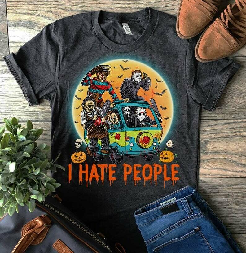 Slashstreet boys I'll kill you that way T-shirt, Horror Michael Myers shirts, Halloween gifts, Horror Halloween Shirts, Halloween Murder tee