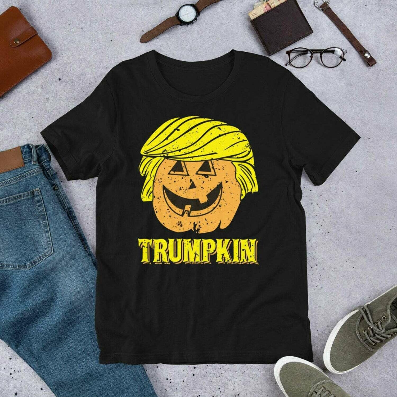 Trumpkin Funny Halloween T-Shirt  TRUMP Make Halloween Great Again