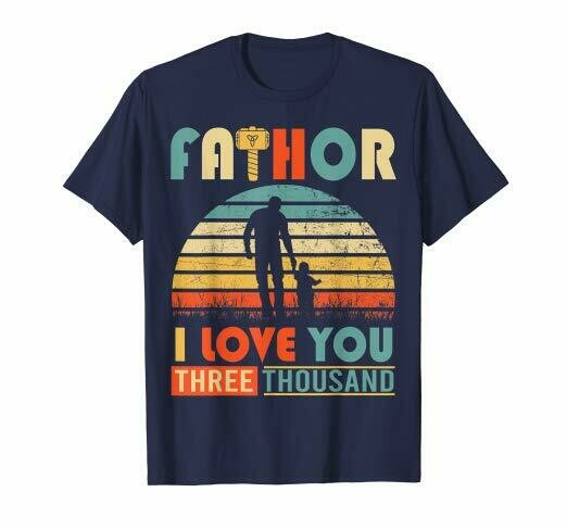 Vintage Intro Fa-thor I Love You T-shirt Happy Fathers Day
