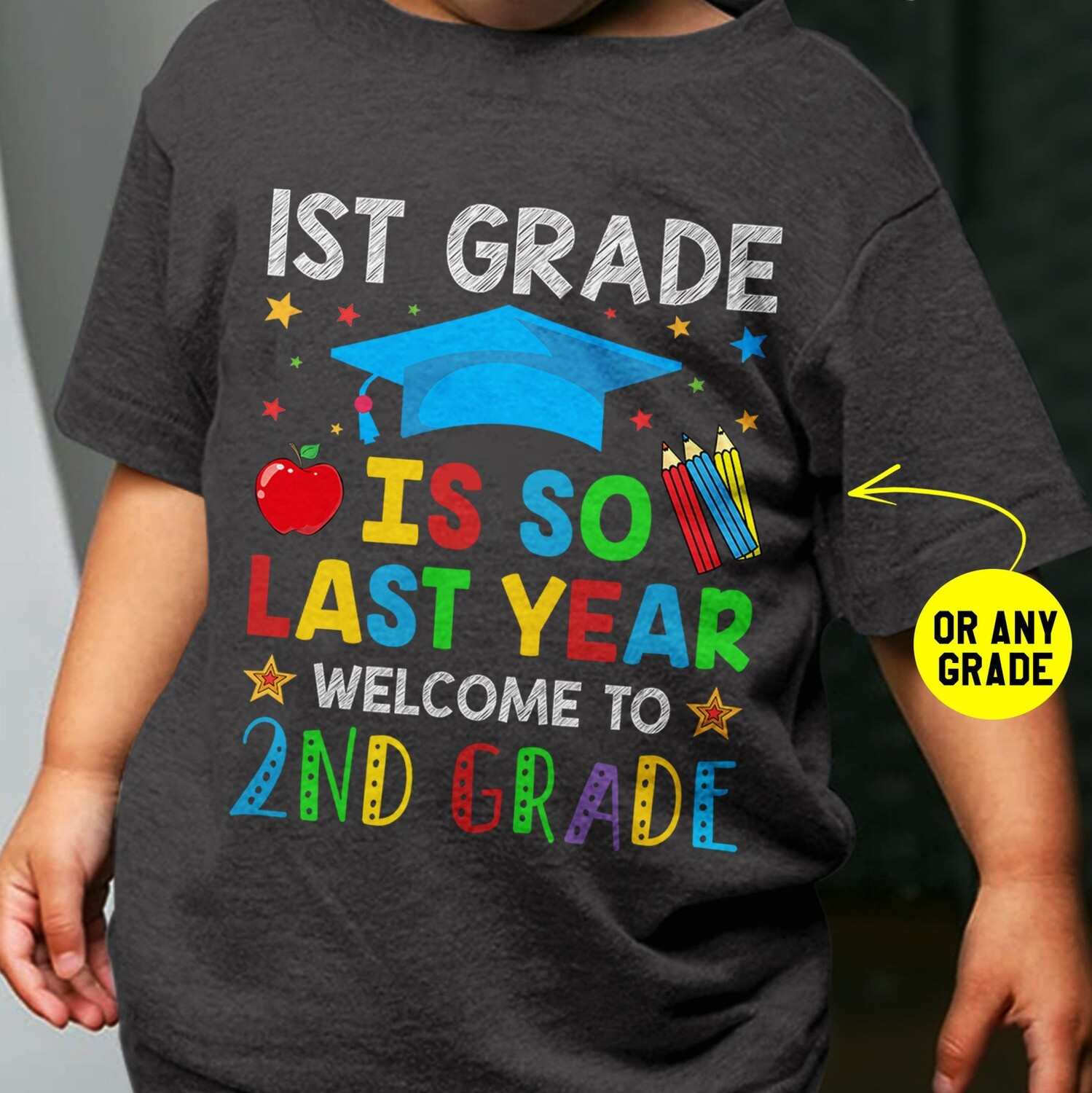 1st Grade is So Last Year Welcome To 2nd Grade Kids Funny Back To School Tshirt First Day Of School Rocking Tee Outfit Gift For Boys Girls