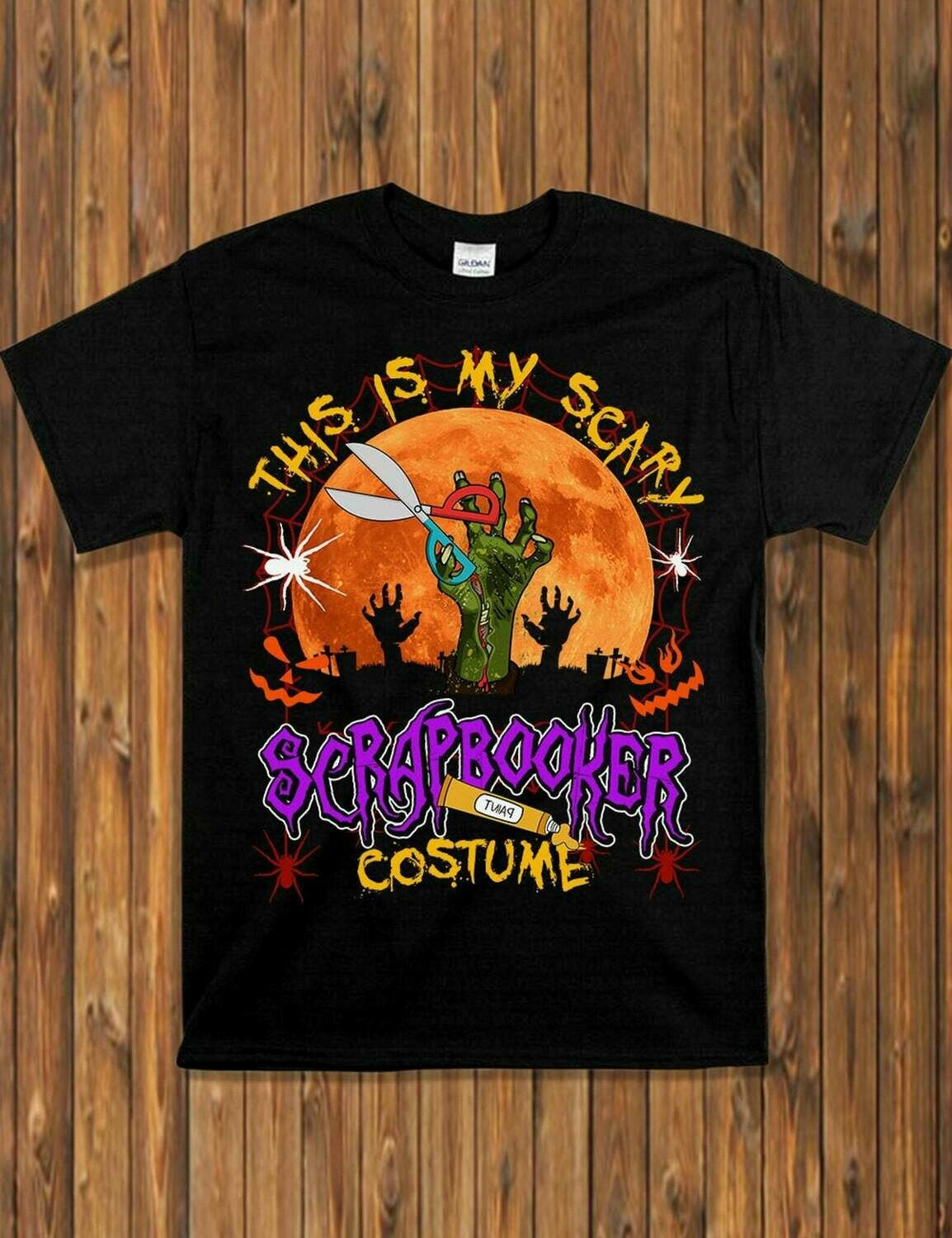This Is My Scary Scrapbooker Costume - Scrapbooker Zombie Halloween Cosplay Gift Shirt For Lovers Halloween