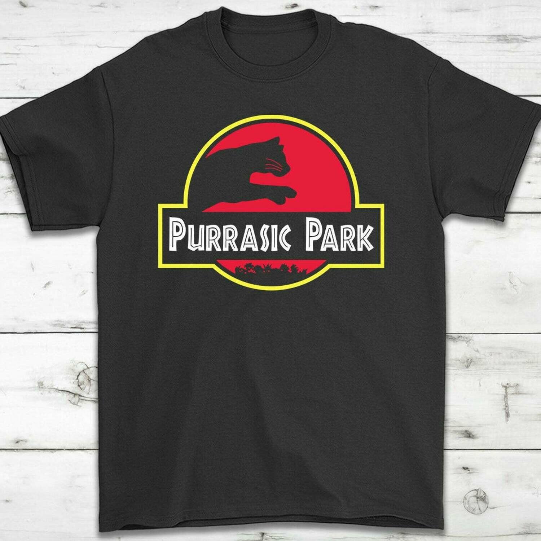 Purrasic Park Cat Lovers T-Shirt Gift - Cat Lovers Tee - Cat Ladies - Cat Mom - Cat Women - I Love My Cat - Unisex Shirt