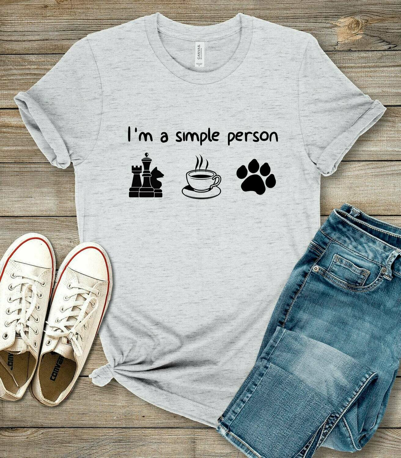 Chess - Im A Simple Person - Chess Gift - Unisex Shirt