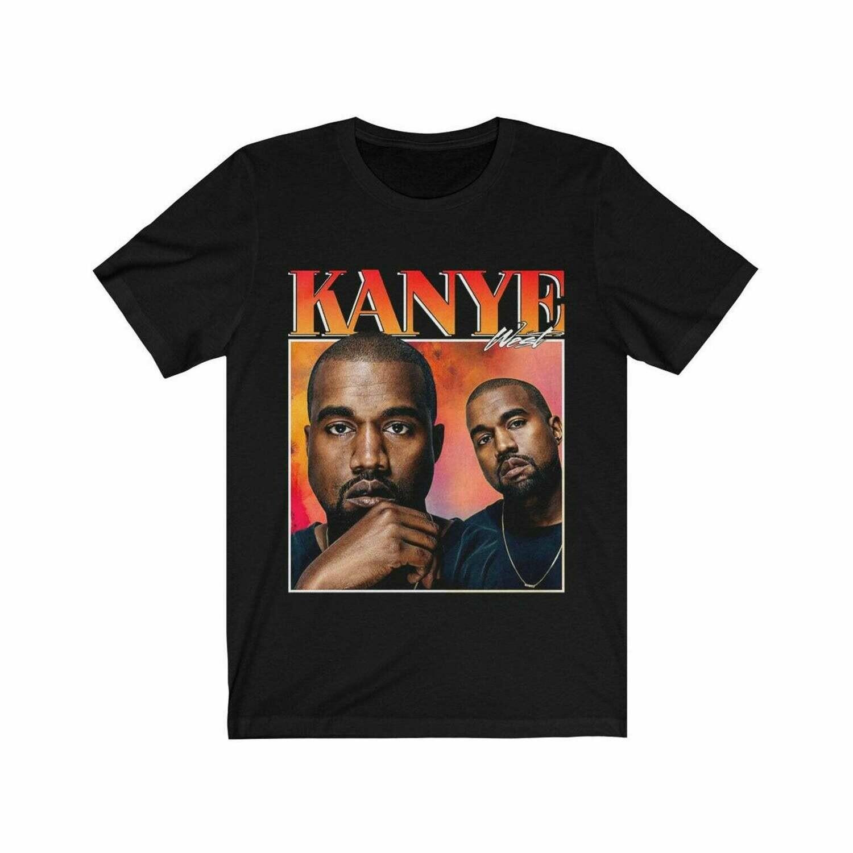 Kanye West Shirt, Kanye West 90's, Kanye West Vintage Unisex Black Tshirt Full Size