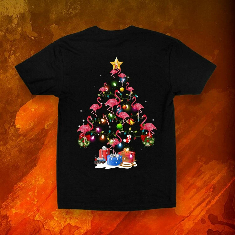 Flamingo Christmas Tree Shirt - Flamingo T Shirt - Christmas Tree Shirt - Holiday Shirt - Christmas Gift