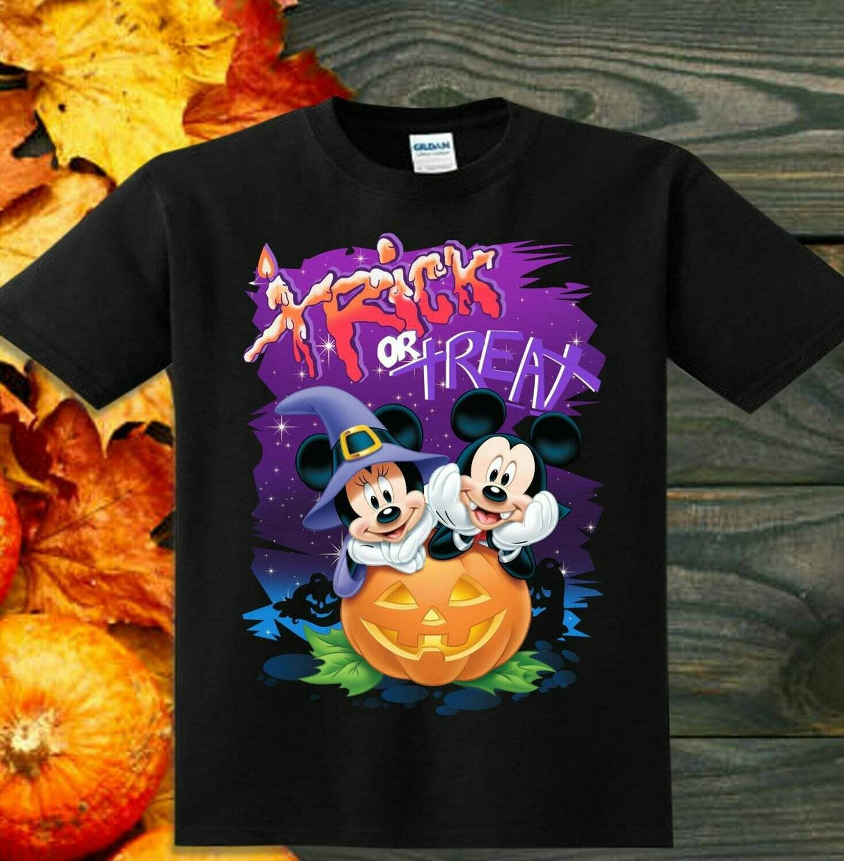 Mickey Minnie Trick Or Treat Disney Halloween Castle I'm going to Walt Disney Vacation Family Let's Go to Disney World Disneyland T Shirt