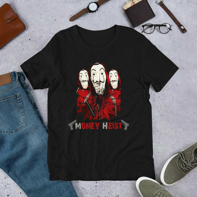 la casa de papel tshirt, money heist, bella cao , for casa de papel lovers for men and women Short-Sleeve Unisex T-Shirt