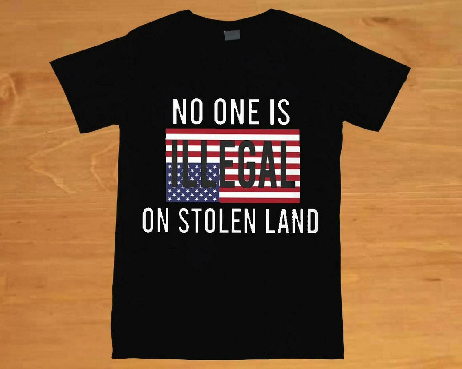 no one is illegal on stolen land shirt no human is illegal immigrants end anti racism shirt powwow pow wow shirt native american shirt tee